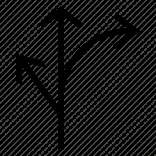 arrow, direction, location, navigation, next, path, way icon