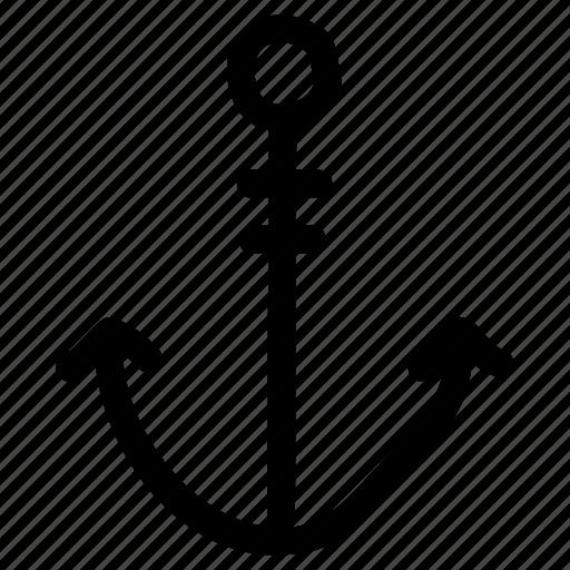 anchor, boat, lifter, sea, ship, tools icon