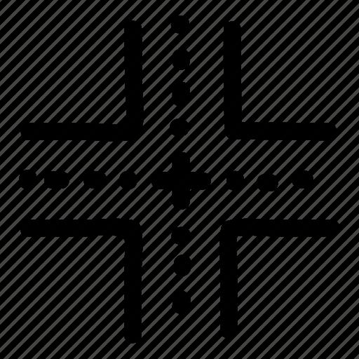 bridge, direction, point, road, roadsign, traffic, transport icon