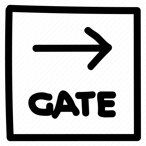 closedoor, door, exit, gate, gateway, secure, security icon