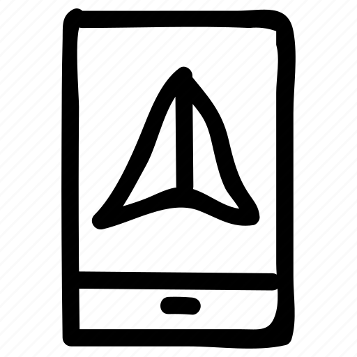 arrow, direction, location, mobile, navigation, point, sign icon