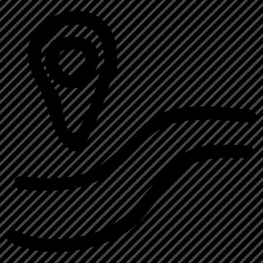 arrow, direction, gps, location, navigation, sign, travel icon