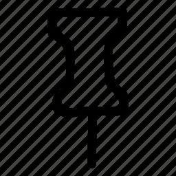 nail, needle, pin, point, pointer, tag, track icon