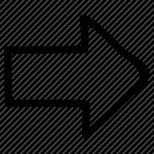 arrow, direction, next, pointer, right, rightarrow, sign icon