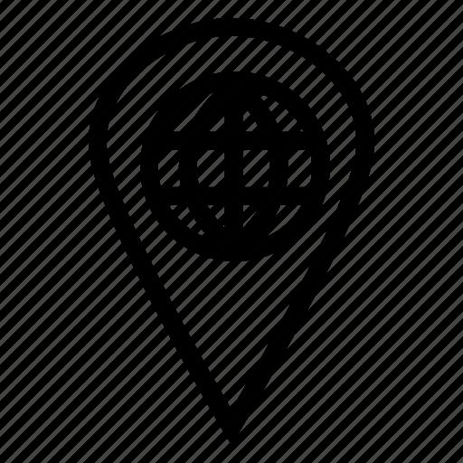 arrow, browser, destination, location, navigation, point, pointer icon