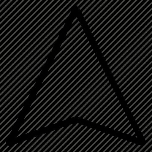 arrow, direction, gps, location, move, navigation, pointer icon