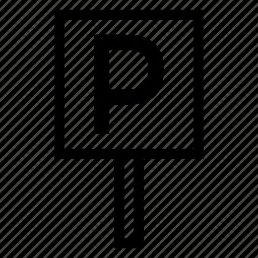 car, parking, road, service, sign, symbols, travel icon