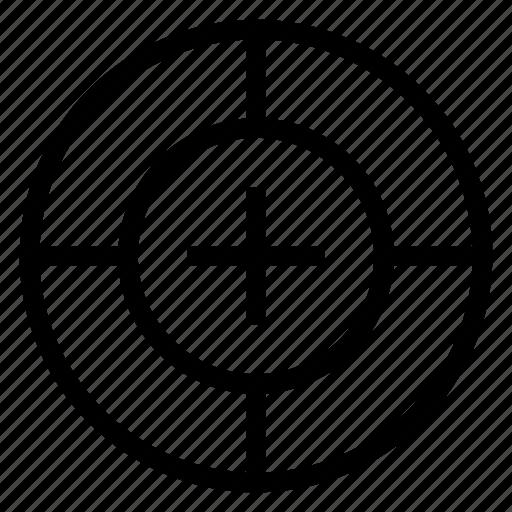 arrow, focus, mission, position, select, target, targetfile icon