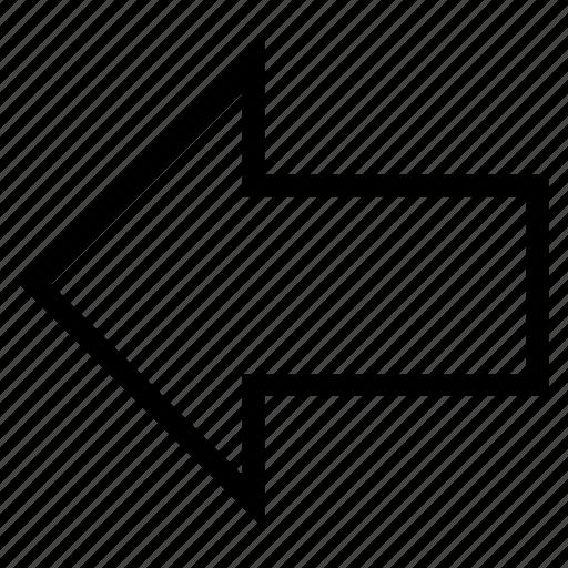 arrow, botton, decrease, direction, left, stroke, way icon