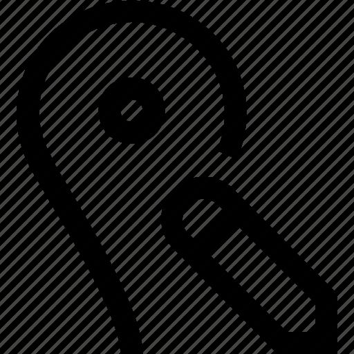 gps, location, map, pencil, pin, save, write icon