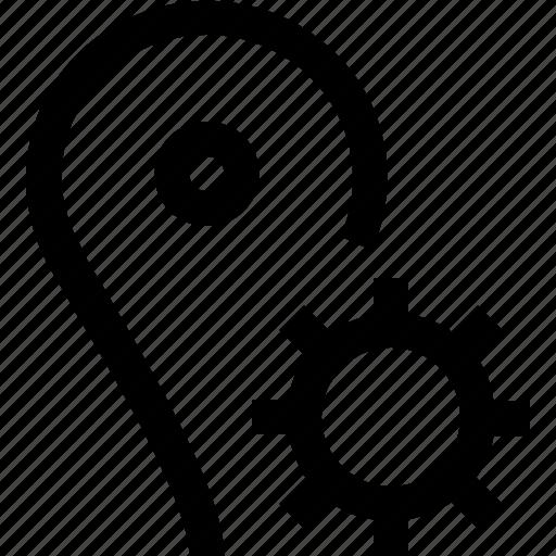 cog, gear, gps, map, pin, settings, wheel icon