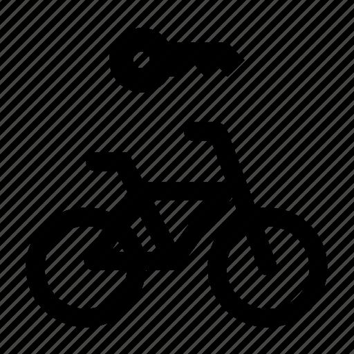bicycle, key, rent, rental icon