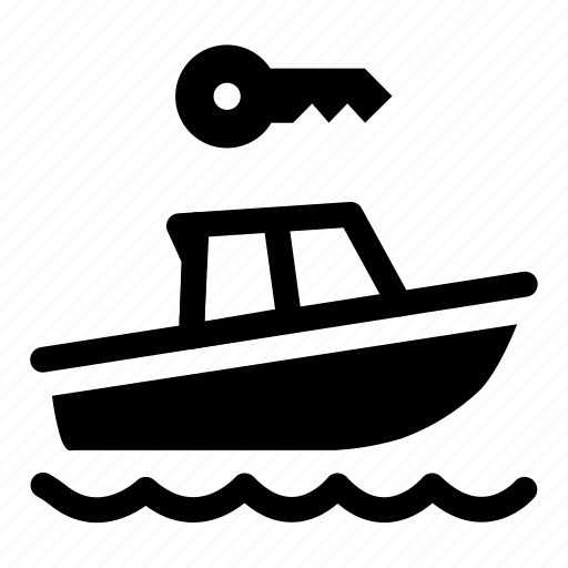 boat, boat rental, key, rent, rental icon
