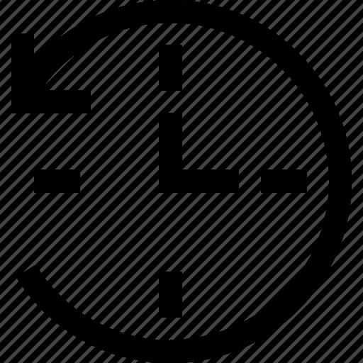back, clock, online, recycle, service, twentyfour icon