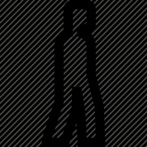 gps, human, location, man, travel, walk, woman icon
