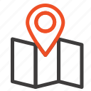 location, map, pointer