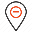 196minimize, location, map, marker, pin icon