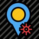 location, map, settings