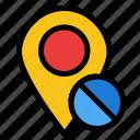 location, map, marker, medical, pin