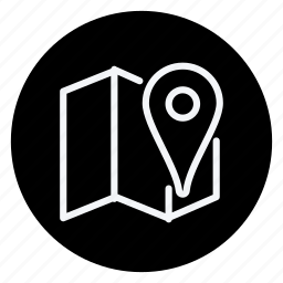 folded map, gps, location, map, pin, placeholder, pointer icon