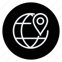 earth, gps, location, map, pin, placeholder, pointer icon