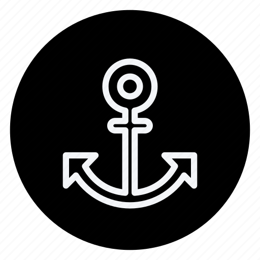 anchor, gps, location, map, navigation, pin, pointer icon