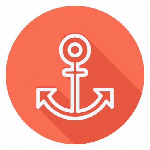 anchor silhouette, gps, location, map, navigation, pin, pointer icon