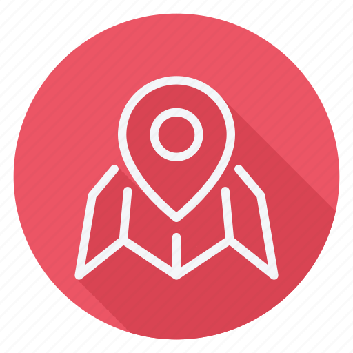 gps, location, map, navigation, pin, placeholder on map paper, pointer icon