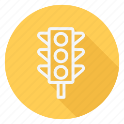 gps, location, map, navigation, pin, pointer, traffic light icon