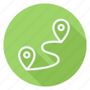 gps, location, map, navigation, pointer, printer, route icon