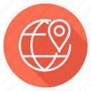gps, location, map, navigation, pin, pointer, world icon