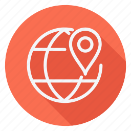 gps, location, map, navigation, pin, pointer, world icon