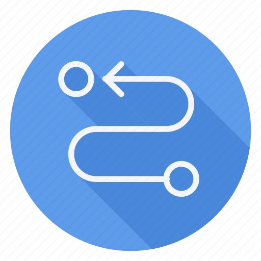 gps, location, map, navigation, pin, pointer, segment path icon