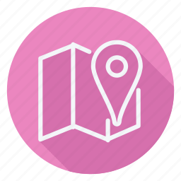 gps, location, map, navigation, pin, pointer, pointer spot tool for maps icon