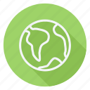 earth, location, map, navigation, pin, pointer, world icon