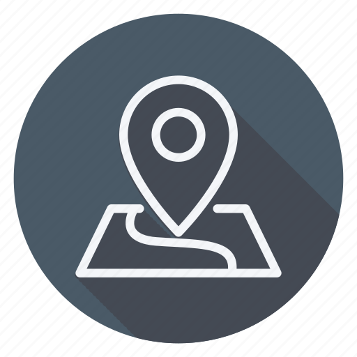 arrow, gps, location, map, navigation, placeholder on map paper, pointer icon