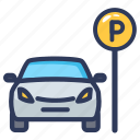 location, navigation, navigator, parking, parking indicator, road indicator