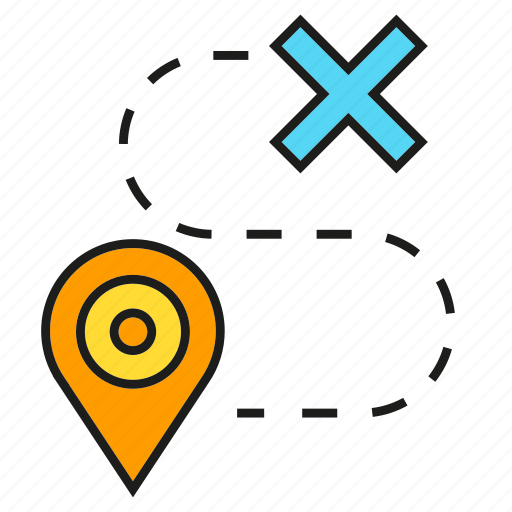 gps, location, map, navigation, pin, route, wrong icon