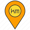 gps, kilometer, location, map, navigation, pin, tracking icon