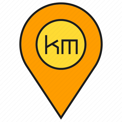 gps, kilometer, location, map, navigation, pin, tracking icon