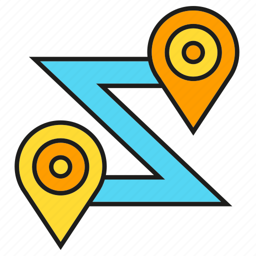Gps, location, map, navigation, pin, route, tracking icon - Download on Iconfinder