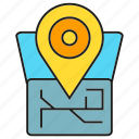 destination, gps, location, map, navigation, pin, tracking icon
