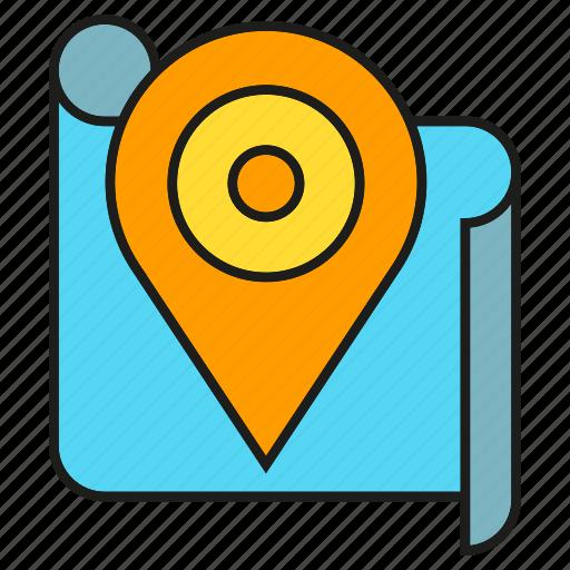 destination, gps, location, map, navigation, pin, tracking icon