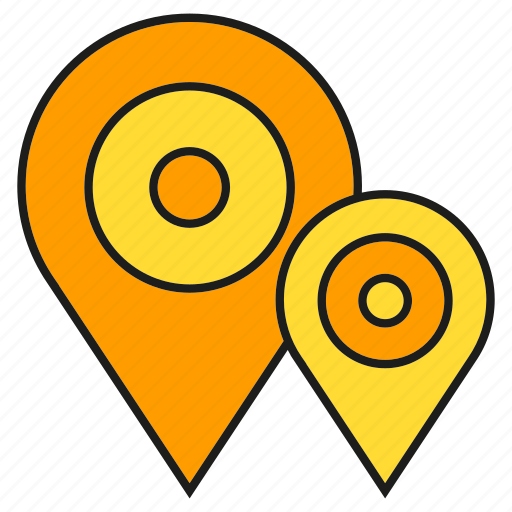 Map, tracking, pin, destination, location, navigation, gps icon