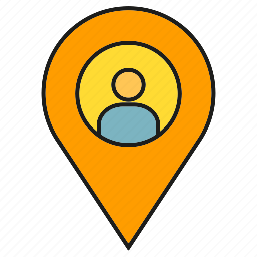 Map, tracking, pin, people, location, navigation, gps icon