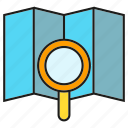 gps, magnifier, map, navigation, search, seek, tracking icon