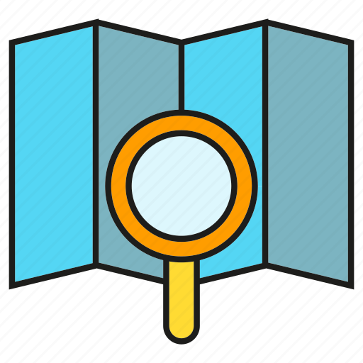 Gps, magnifier, map, navigation, search, seek, tracking icon - Download on Iconfinder
