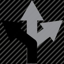 arrow, direction, keep, left, navigation icon
