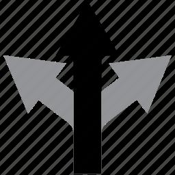 arrow, direction, keep, navigation, straight icon