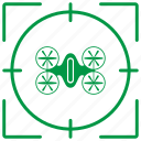 avia, drone, helicopter, robot, target icon
